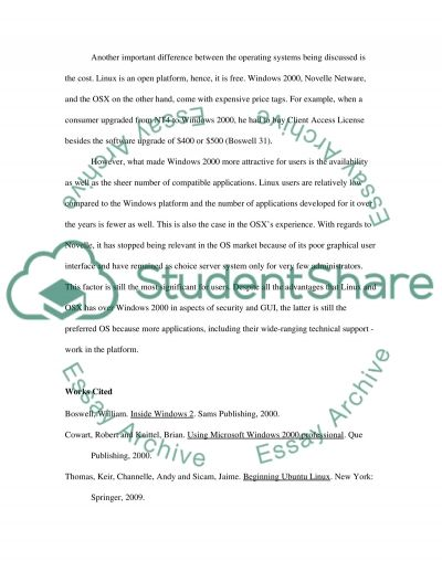 Comparing and Contrasting Operating Systems essay example