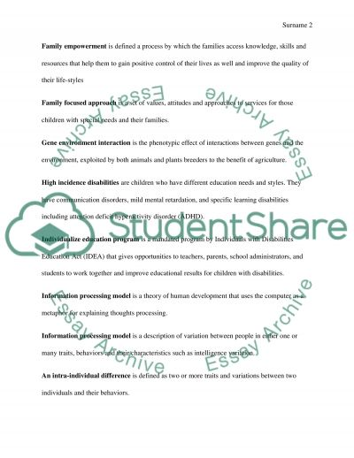 Key Terms essay example