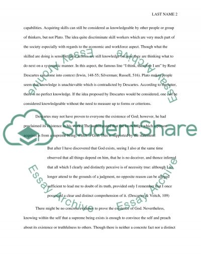 Answers to Prompt Questions essay example