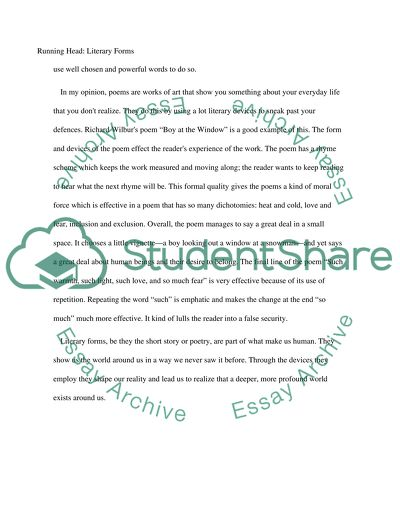 The Short Story And Poem A Comparison Of Literary Forms Essay
