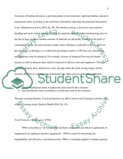 Comparing Lean and Agile Strategies Essay example