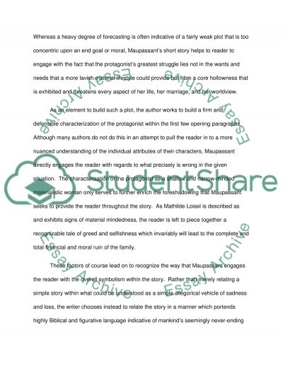 the necklace an thematic analysis essay example topics and well  the necklace an thematic analysis essay example