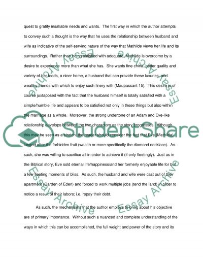 necklace essay analysis The necklace is a short story, written by guy de maupassant here we go, a brief analysis of the necklace, made by my lecturer, ms henny herawati spd, mhum.
