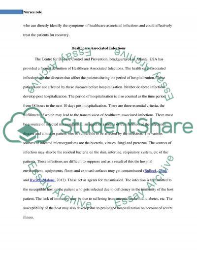 Nurses role essay example