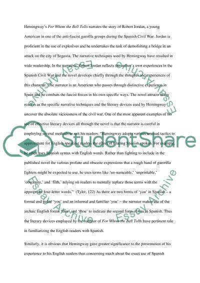 Spanish Civil War and Literature essay example