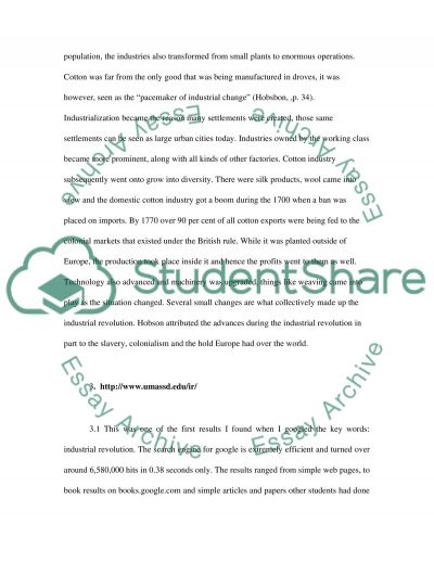 Coursework essay example