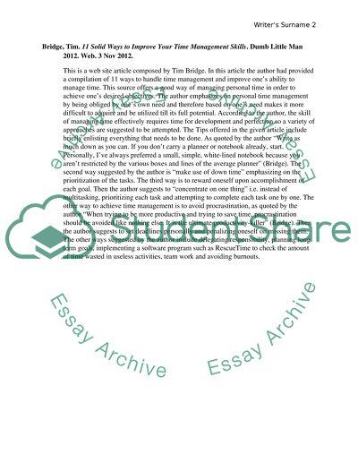 ENG 305T Annotated Bibliography