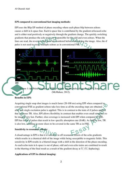 BLIP Echo Planar Imaging Method