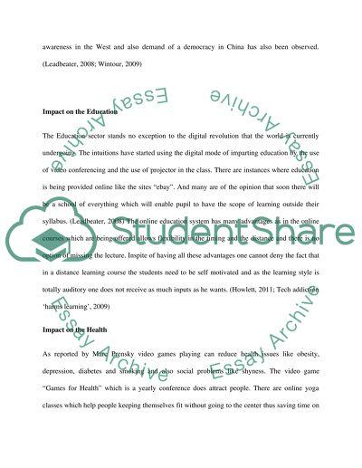 digital communication essay
