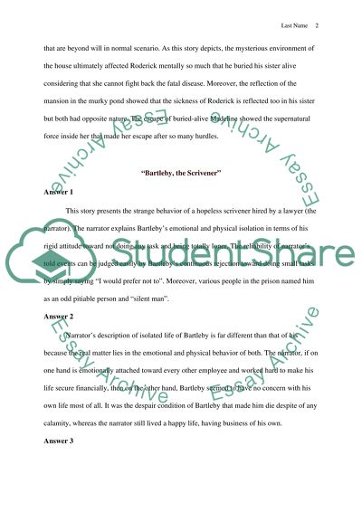 American Literature Essay Example  Topics And Well Written Essays  American Literature