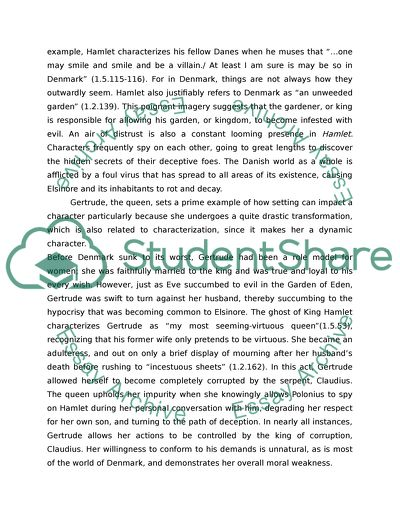 Hamlet By William Shakespeare Essay Example  Topics And Well  Hamlet By William Shakespeare Essay