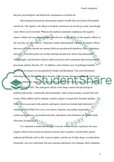 Casual Argument: anabolic steroids essay example