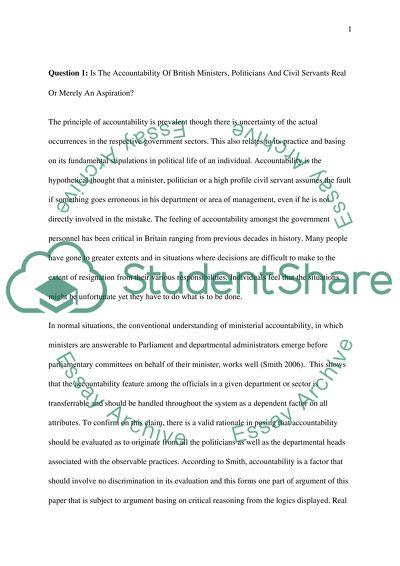 Accountability essay