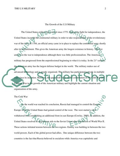 Military research paper