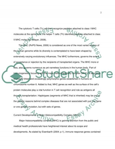 Immunology essay example