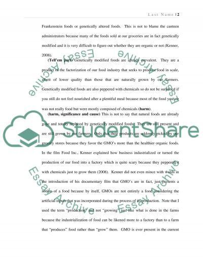 Persuasive Speech for the Adoption of Organic Food into the Lunch Program of the School essay example