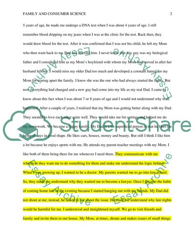 College Research Essay Examples  Writing A Literature Essay also Synthesis Essay Prompt Family Biography Essay Example  Topics And Well Written  Essay On Health Care