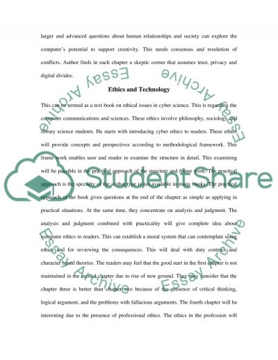 Computer Ethics and Professional Responsibility essay example
