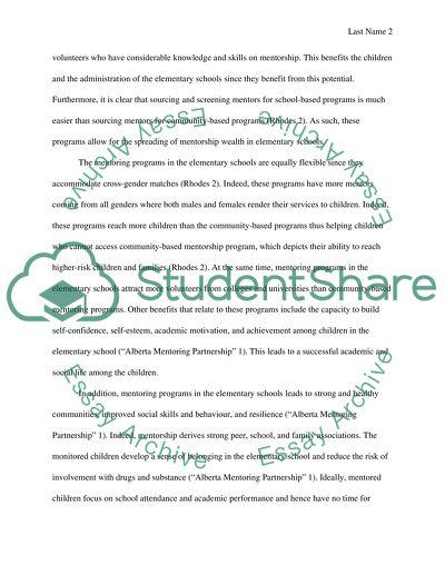 Benefits of Mentoring Programs in Schools