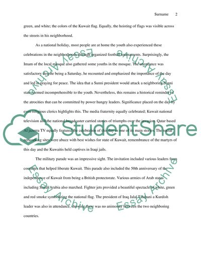 The Liberation Day Of Kuwait Essay Example  Topics And Well Written  The Liberation Day Of Kuwait Top English Essays also Catcher In The Rye Essay Thesis  An Essay On Newspaper
