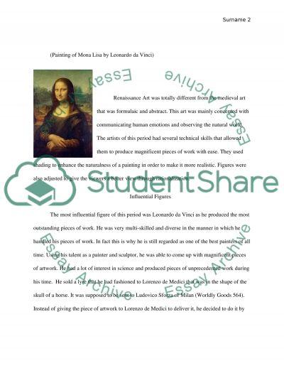 an essay on the art of the renaissance