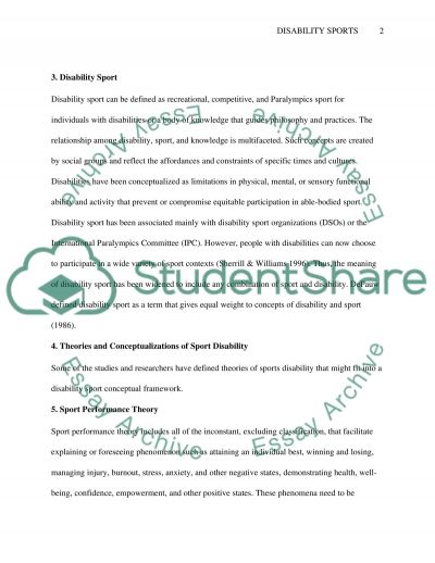 Ethics In Disability Sports essay example