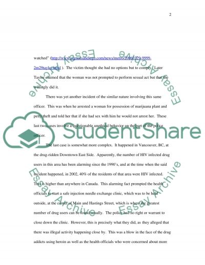 Police misconduct essay example