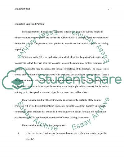 Design the Evaluation Plan, Part 3 essay example
