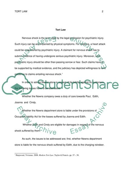 Indian Independence Day Essay Tort Law Read Textpreview History Of English Essay also Example Descriptive Essay Tort Law Essay Example  Topics And Well Written Essays   Words   Romeo And Juliet Essay Topics