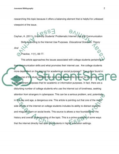 review of the effects of the internet on students annotated  review of the effects of the internet on students essay example