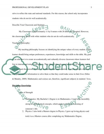 Professional Development Plan essay example