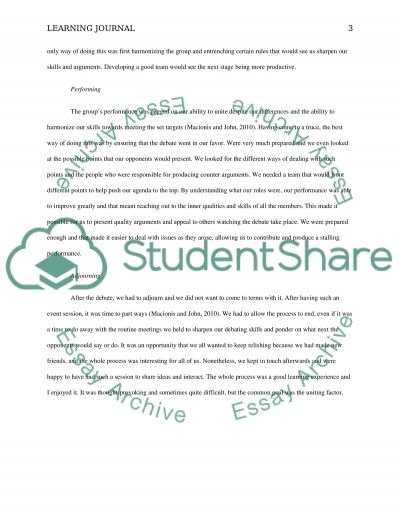5 Stages of Team Development essay example