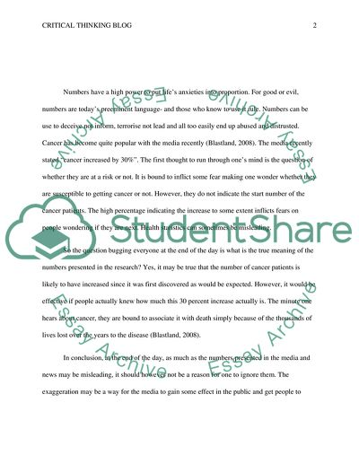 How To Make A Thesis Statement For An Essay Critical Thinking Blog  Essay Example Essay Com In English also Essays Papers Critical Thinking Blog Essay Example  Topics And Well Written  Writing Essay Papers