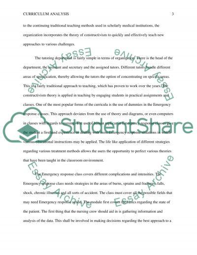 Curriculum Analysis: Emergency Nursing in Diverse Population essay example