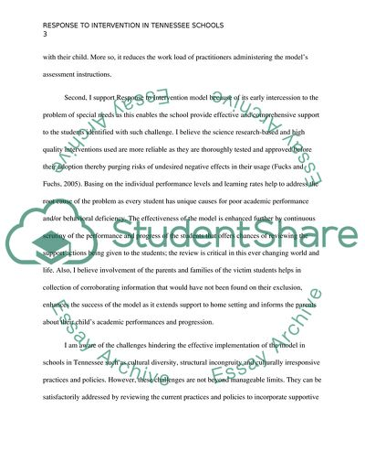 RTI^2 - Position Paper - Response to Intervention in Tennessee Schools