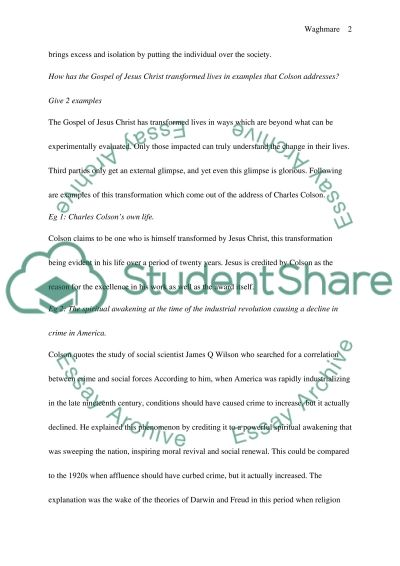 The power of a world view essay example