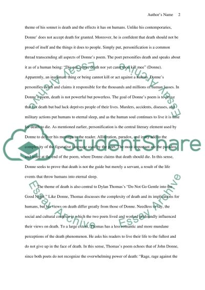 english literature death and poetry essay example topics and english literature death and poetry essay example