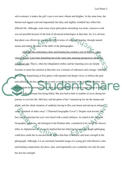 Essay (Visual Text of the girl)