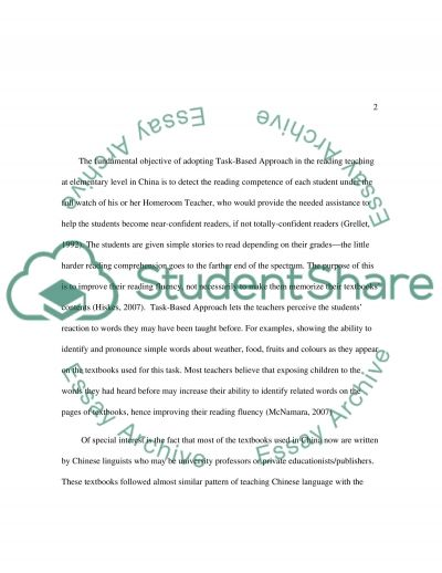 The application of Task-based Approach in English Reading Teaching