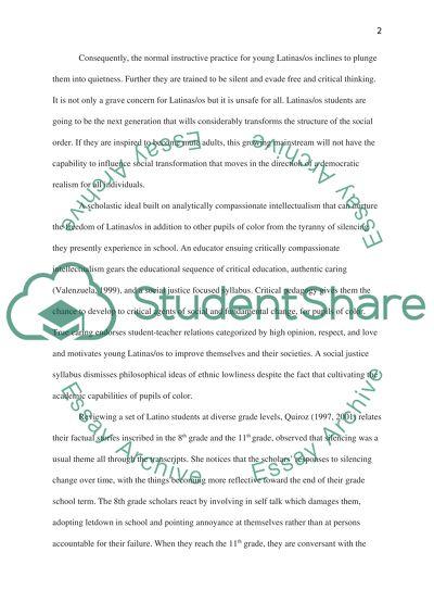 Latina/o students and Education