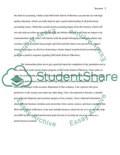 reasons why students choose accountancy