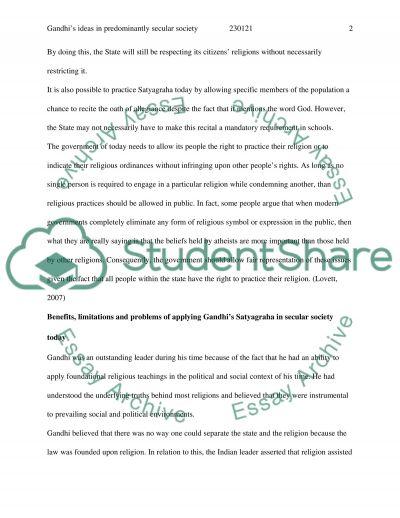 Gandhi Teachings essay example