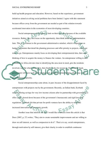 U Of M Application Essay Social Entrepreneurship  Essay Example Good Persuasive Essay Topics also Descriptive Essays Sample Social Entrepreneurship Essay Example  Topics And Well Written  Essay Writing Vocabulary