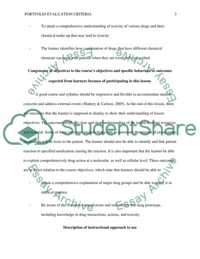 Lesson plan and rationale essay example