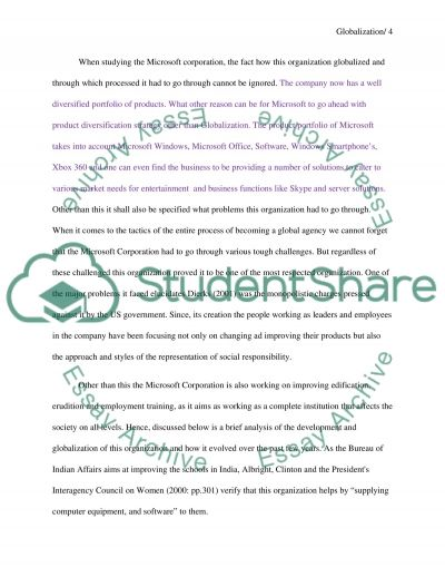 essay on microsoft corporation Free essay: microsoft, one of the largest corporations in the world today, employs over 93,000 people and is a public, multinational company that.