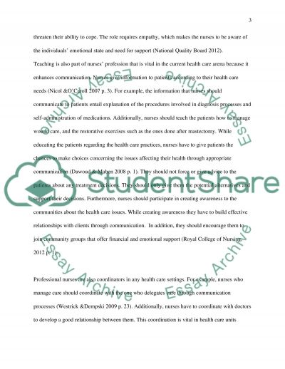 Professional Aspect of Care essay example