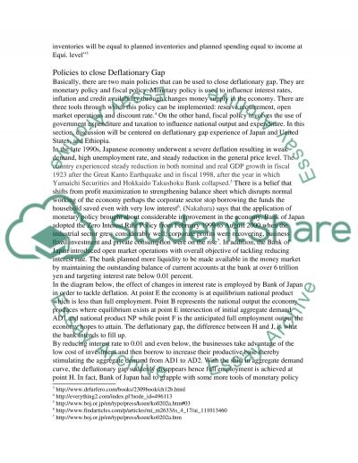 Policies Government can use to close Deflationary Gap essay example