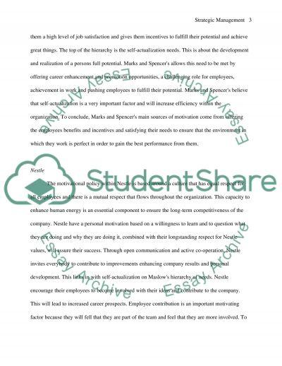 Strategic Management M1 essay example