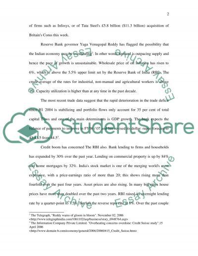 Macroeconomic Case Analysis using article essay example