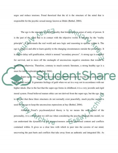 Psychological Model of Mind essay example